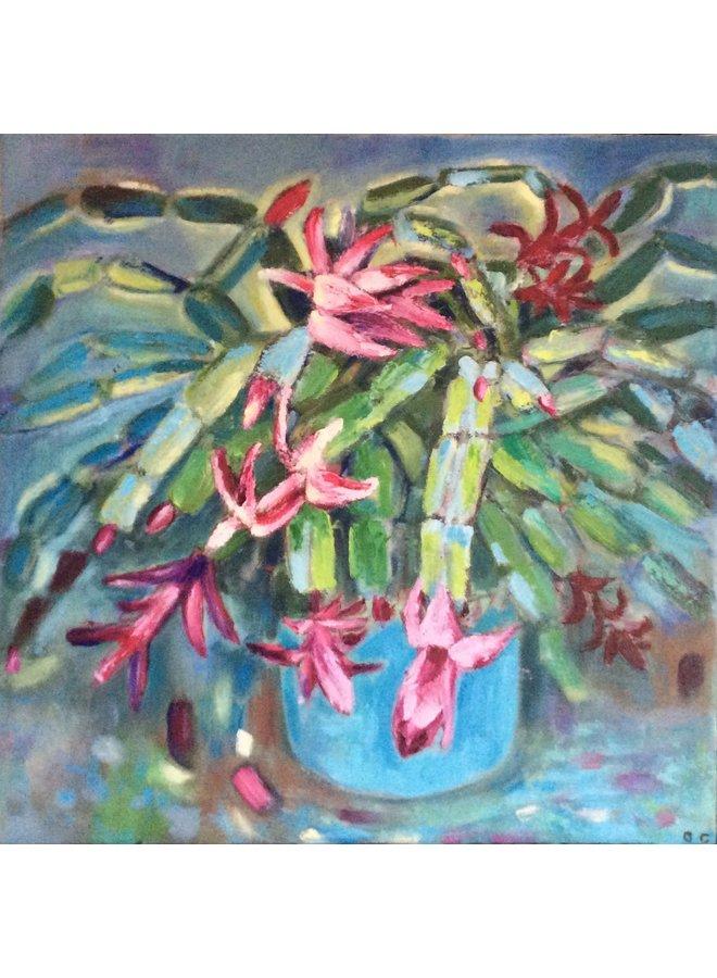 Blühender Kaktus 016