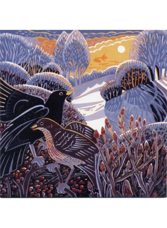 Winter Glow by Annie Sudan 140x140mm card