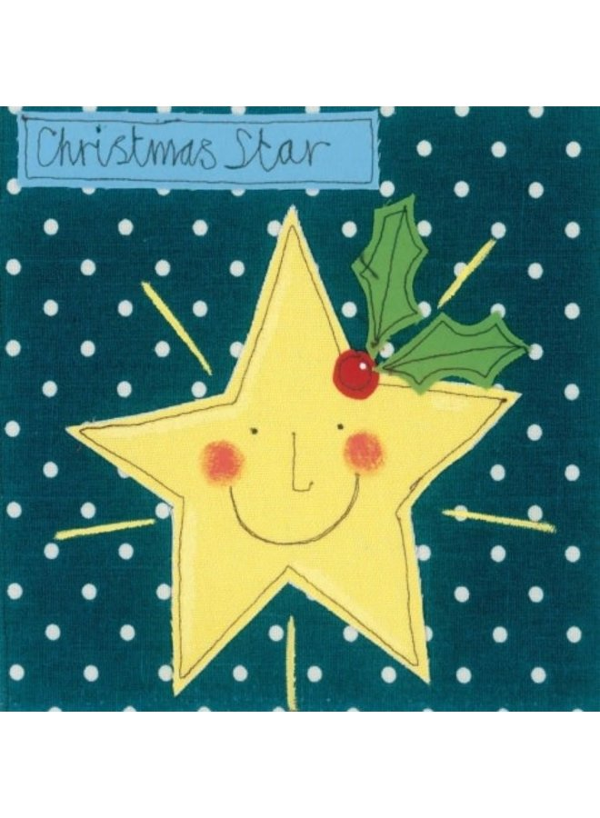 Christmas Star by Sophie Harding  x5  Xmas Charity cards 140x140mm