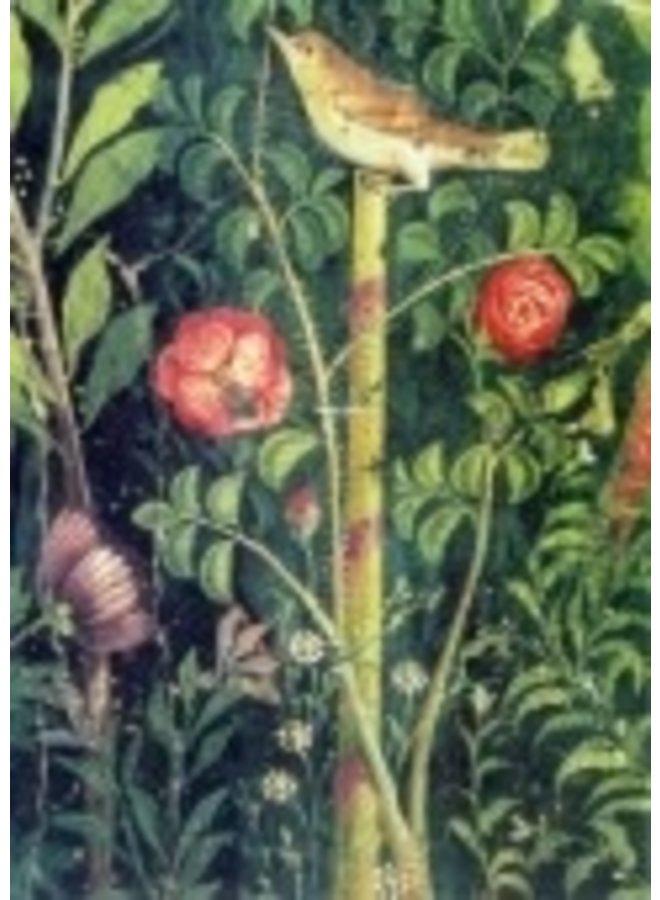 A Bird in a Garden 140x 180mm card