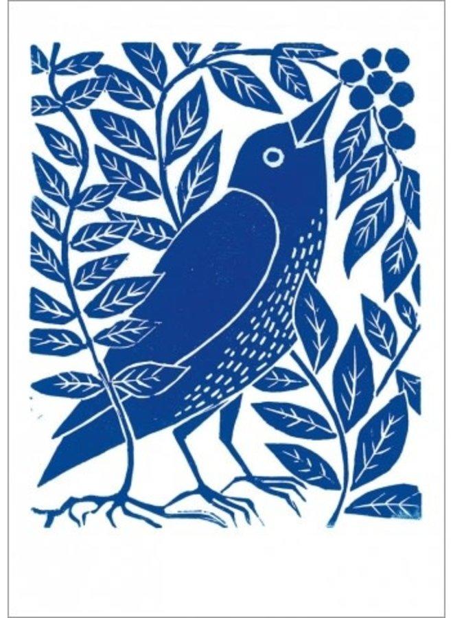 Blue Blackbird 140x 180mm card