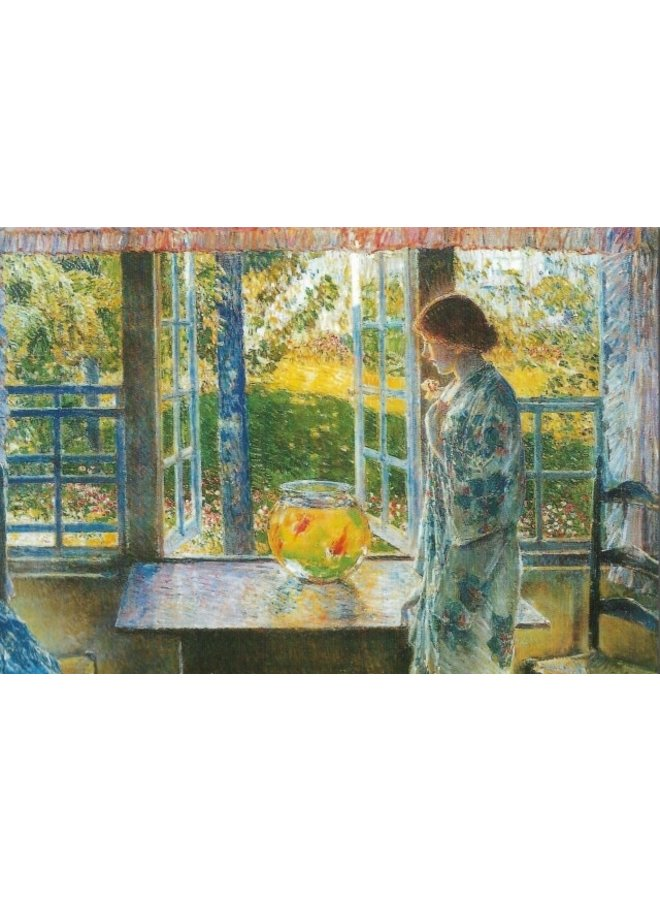 The Goldfish Window by Childe Hassam 180x 140mm