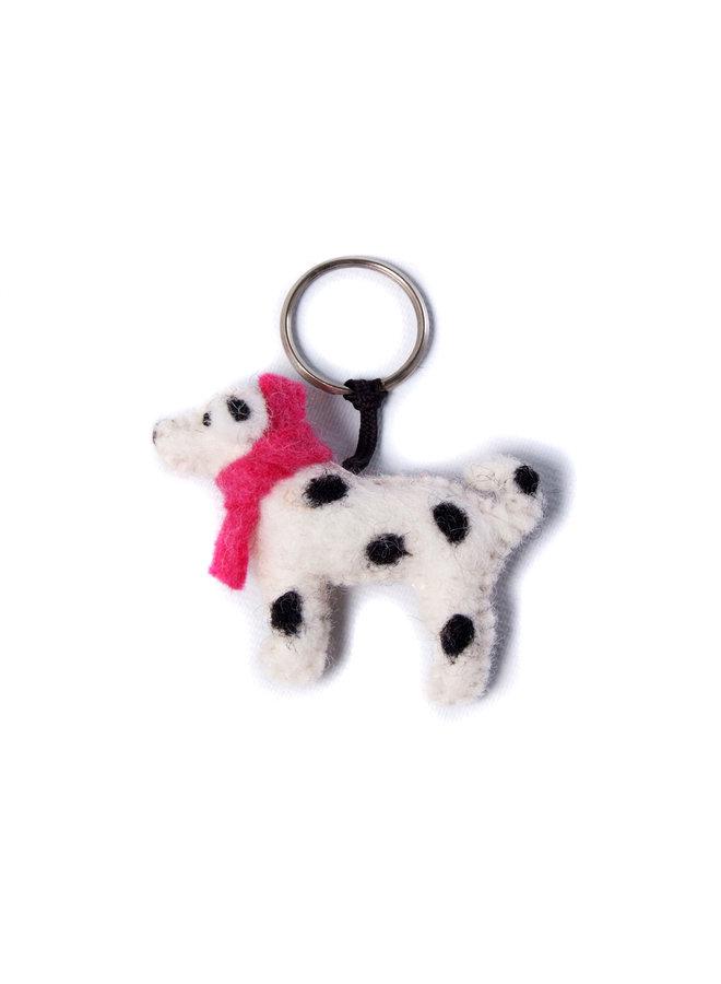 Spotty Dog Pinker Schal Filz Schlüsselanhänger133