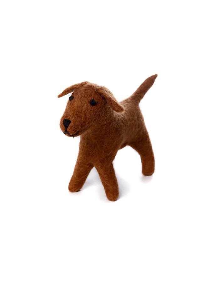 Chocolate Labrador Medium  Felt Toy 142