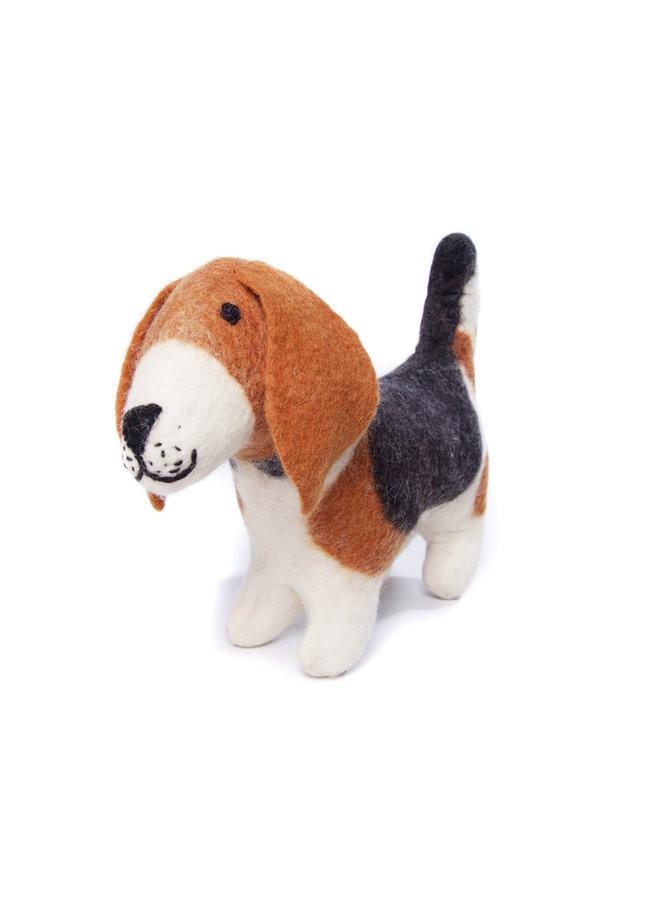 Basset Hound  Medium  Felt Toy 143