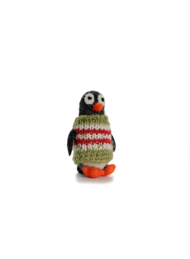 Penguin in Jumper  Xmas  Felt Decoration 131