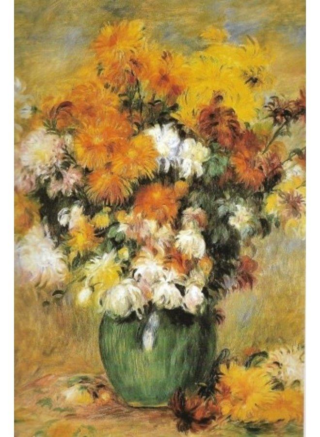 Bouquet de Chrysanthemes card