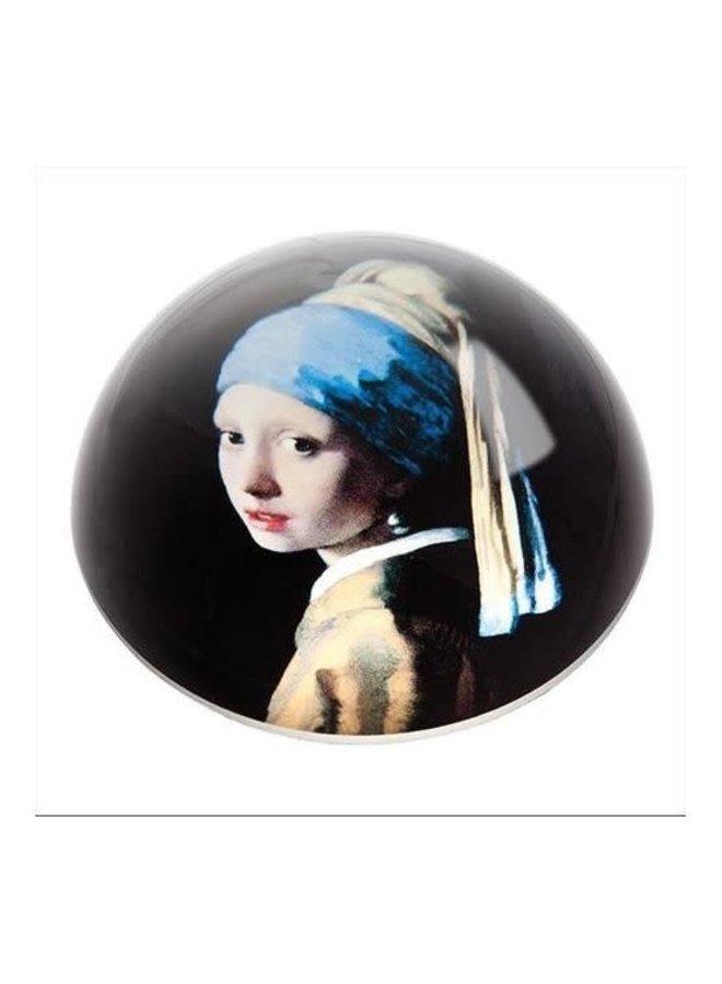 Vermeer Girl with Pearl Earring  Paperweight 095