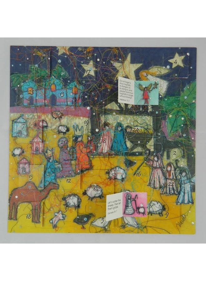 Nativity Night  Advent Calendar  by  Heidi Rhodes