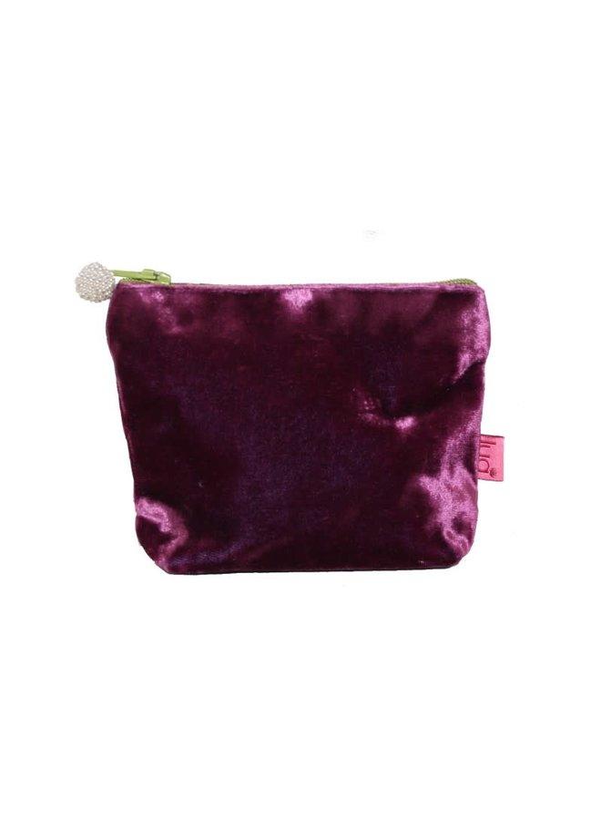Mini Velvet Purse Plum 459