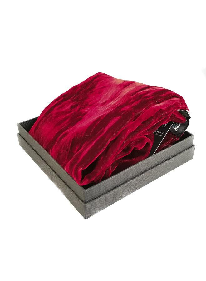 Ruby Iridescent Velvet scarf 092
