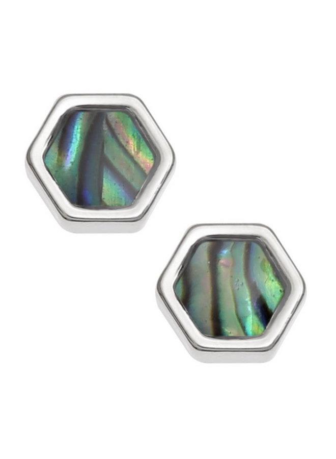 Honeycomb Inlaid Paua shell  Stud Earrings T757