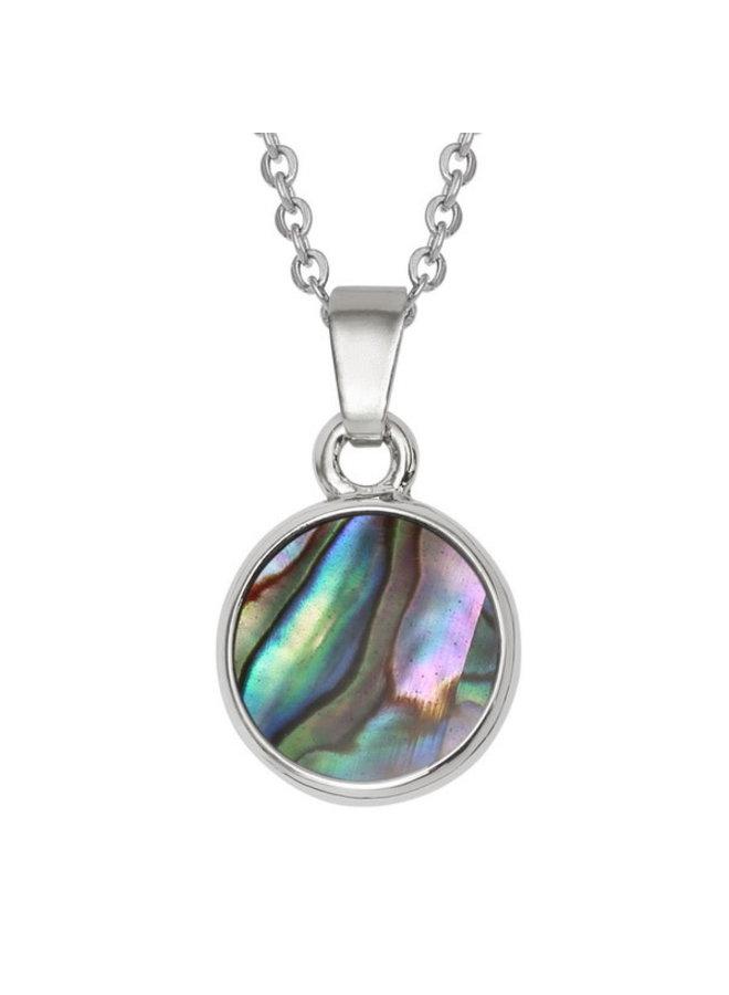 Circle  Inlaid Paua shell  necklace 677