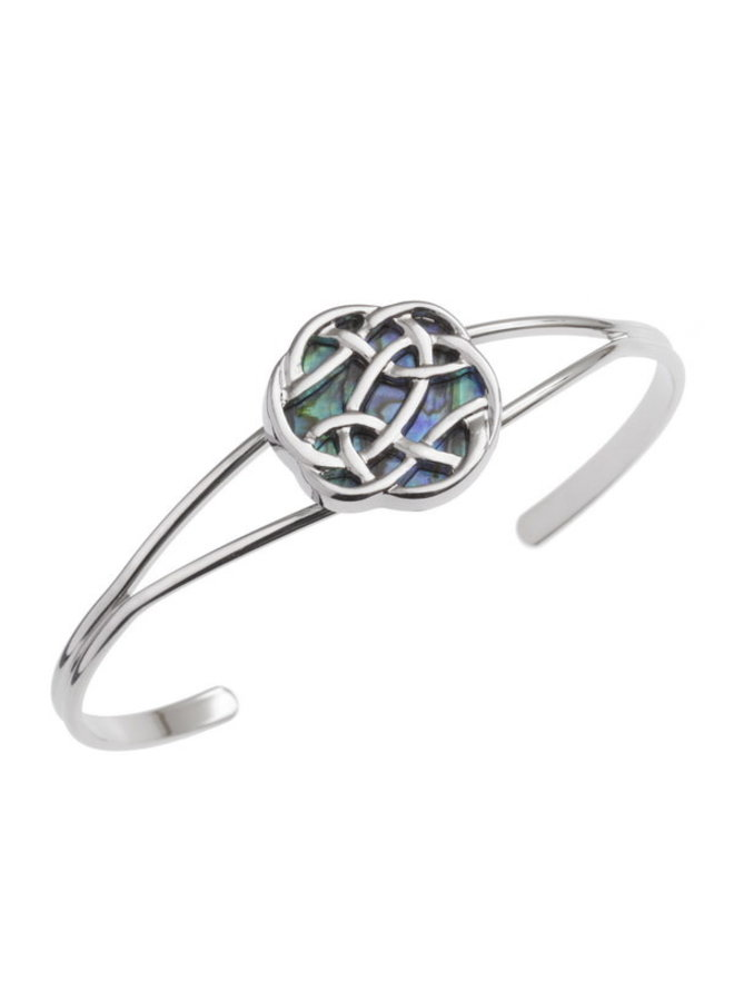 Celtic Knot Inlaid  Paua shell  Bangle T353