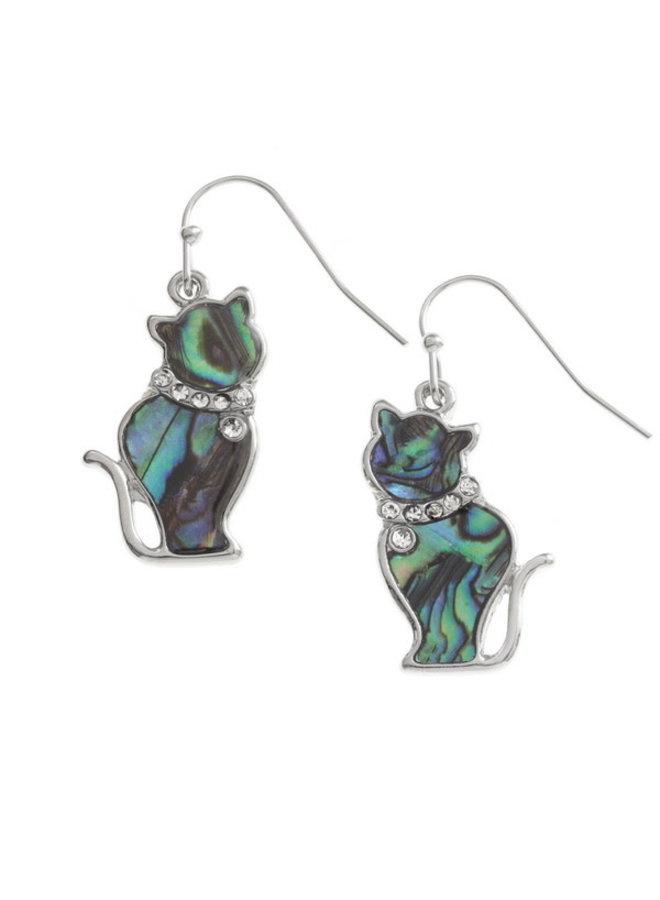 Copy of Gecko  Inlaid Paua shell  Drop  Earrings 213