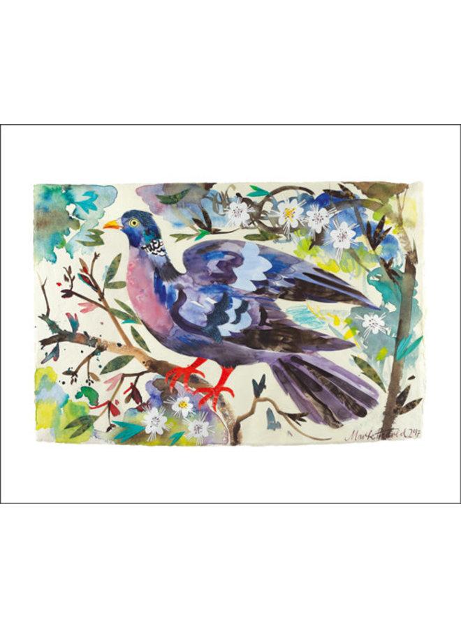 Wood Pigeon card by Mark Hearld