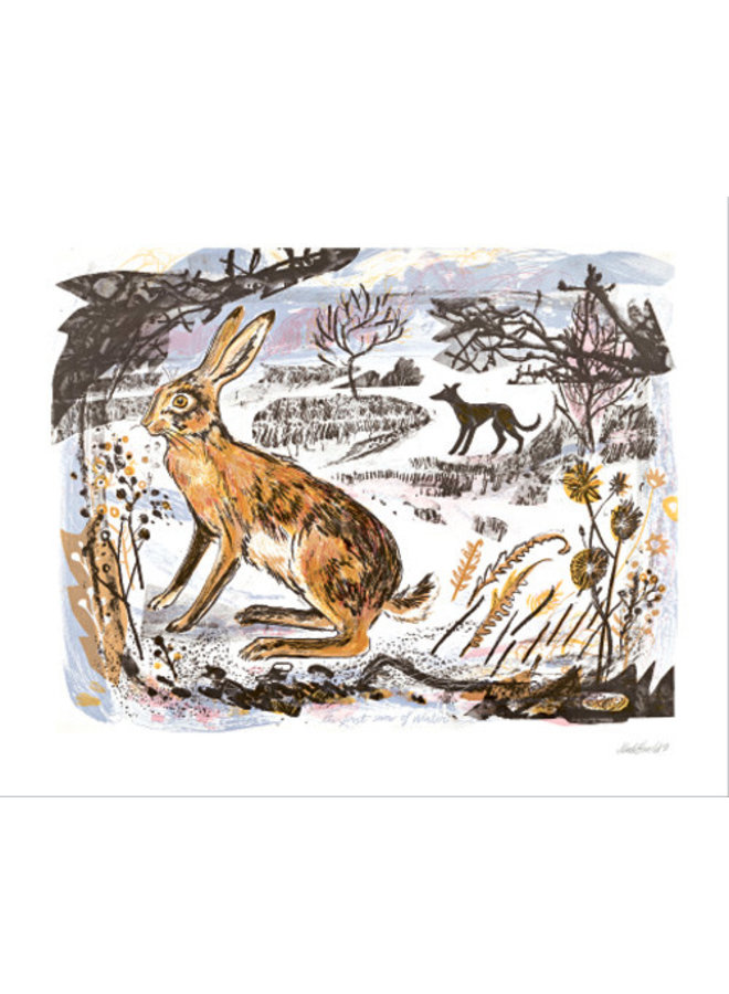 The First Snow of Winter card by Mark Hearld