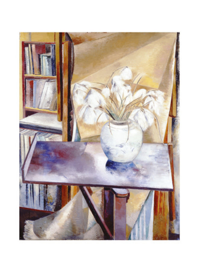 Still Life with Bog Cotton by Paul Nash