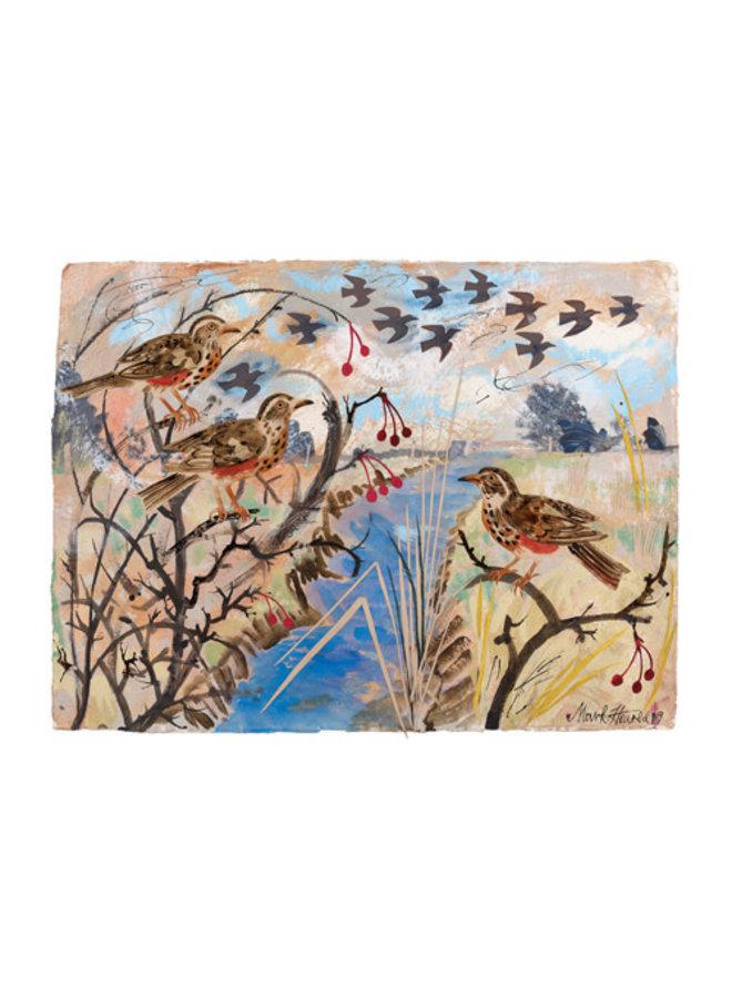 Redwings card by Mark Hearld