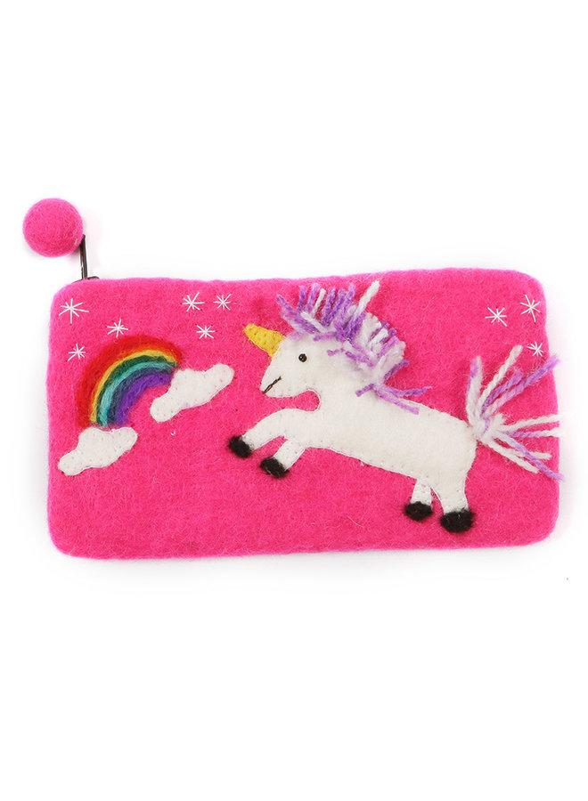 Unicorn and Rainbow Pencil Case Felt 33