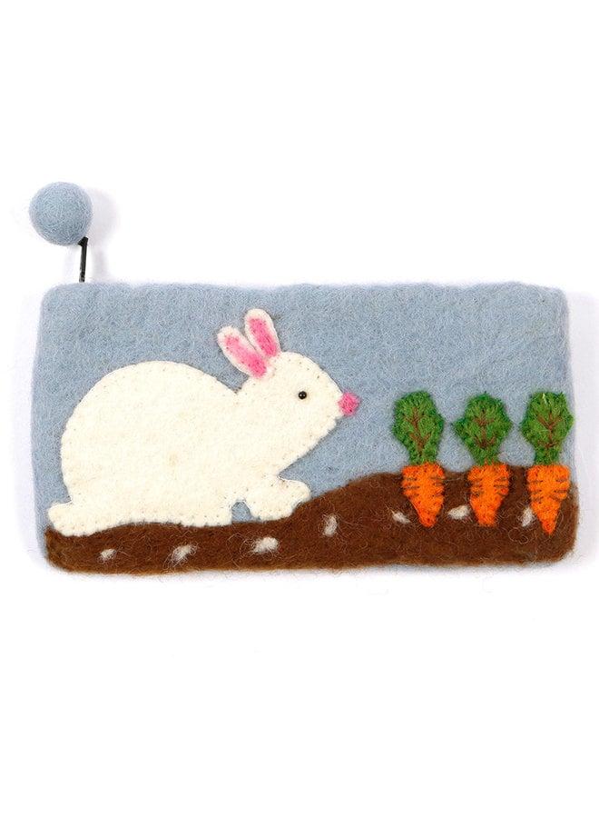 Rabbit and Carrots Pencil Case Felt 32