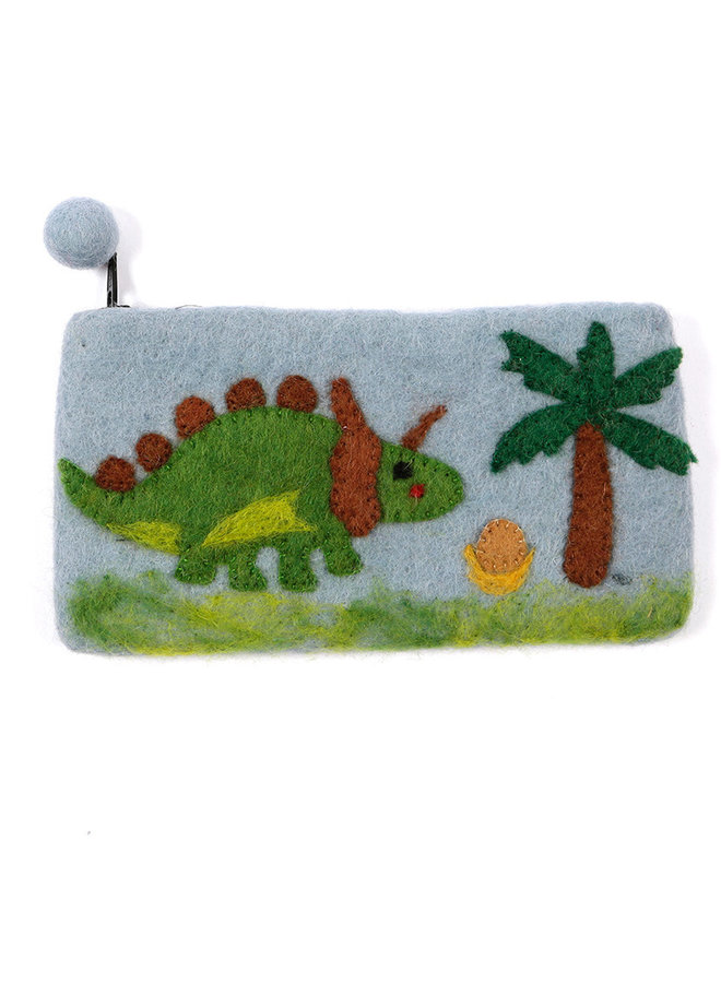 Dinosaur with Tree Pencil Case Felt 29