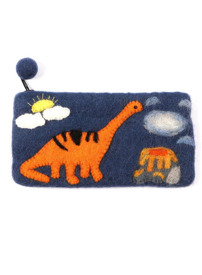 Dinosaur Volcano Pencil Case Felt 30