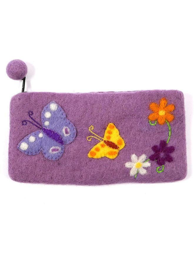 Butterflies Pencil Case Felt 28