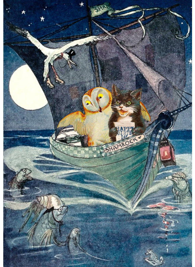 The Owl & The  Pussycat Vintage  Card