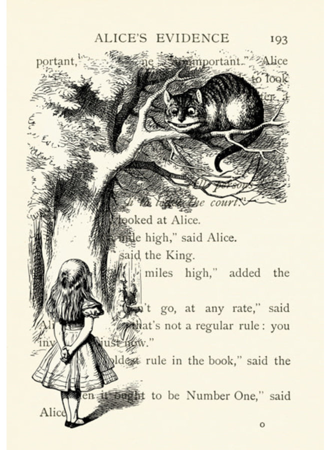 The Cheshire Cat Vintage Card