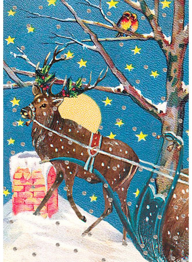 Starry Winter Night Glitter Card