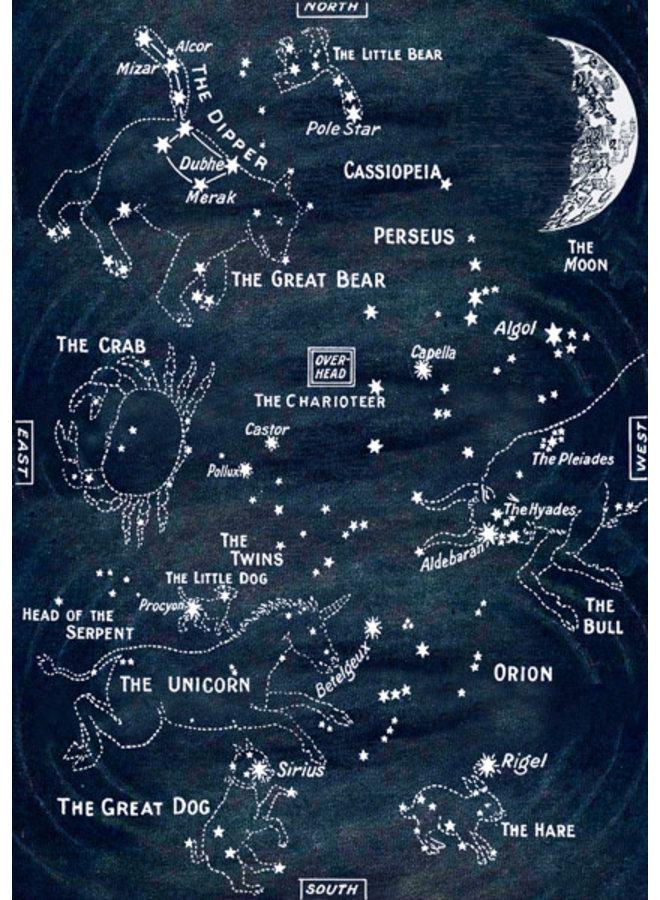 Star Map glitter  card