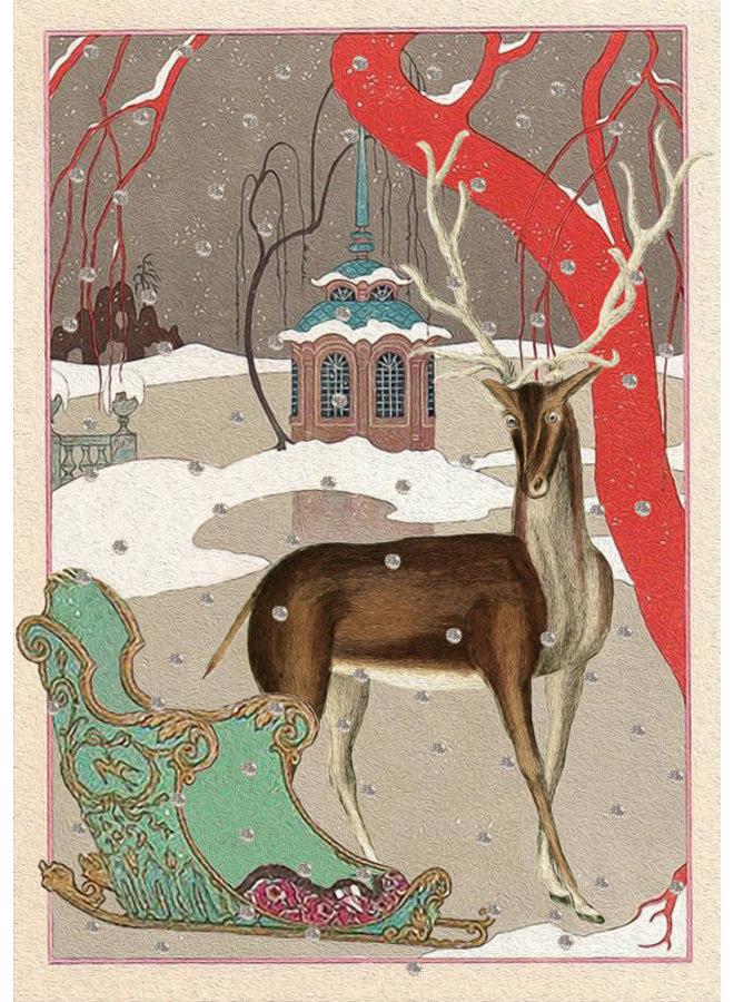 Ice Lake Glitter Card