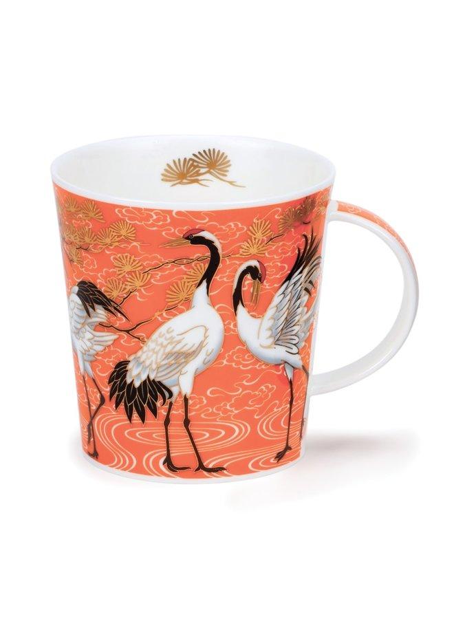 Shalamar Cranes Orange Mug by David Broadhurst 85
