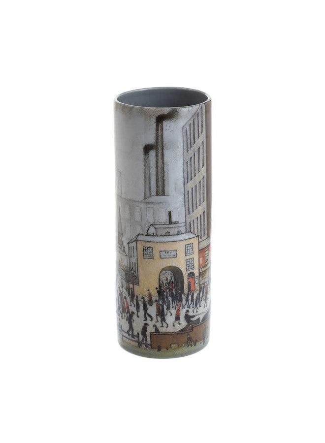 Lowry Coming from the Mill  Medium Art Vase ceramic 245