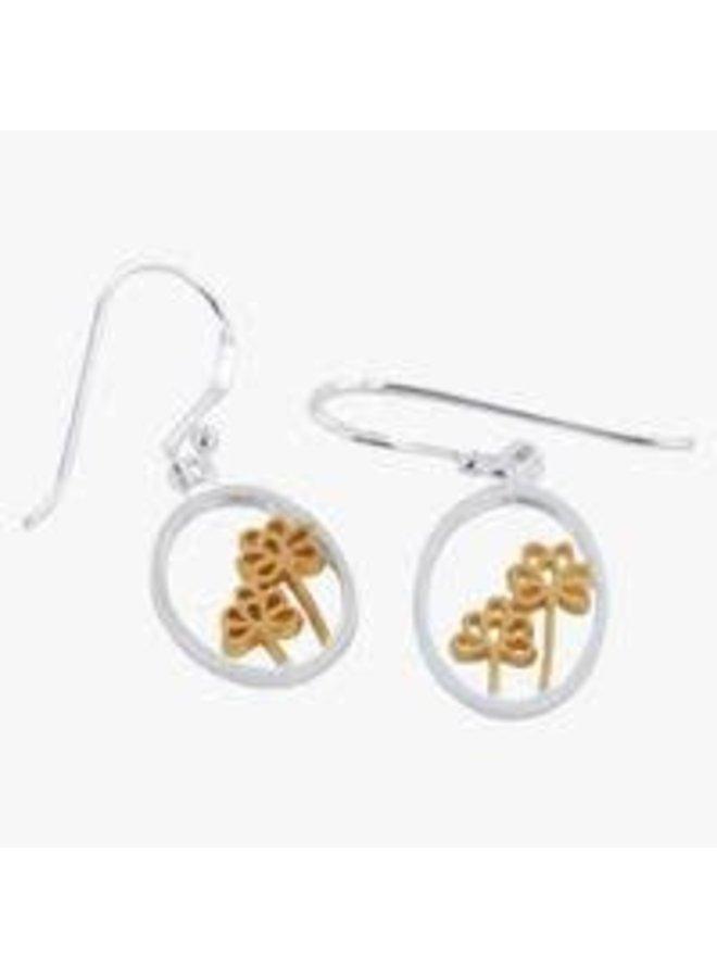 Holunderblüten Silber und Gold Ohrringe 25
