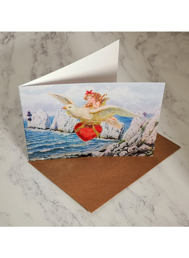 Love Dove Vintage Glitter Card  91