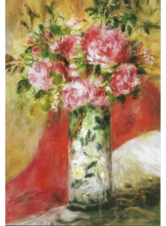 Roses in a Vase 1876 by Renoir  140x 180mm card