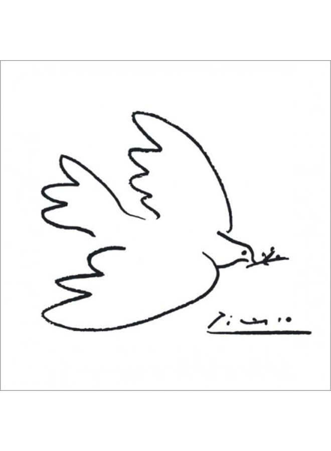 The Dove of Peace by Picasso 140x140mm card