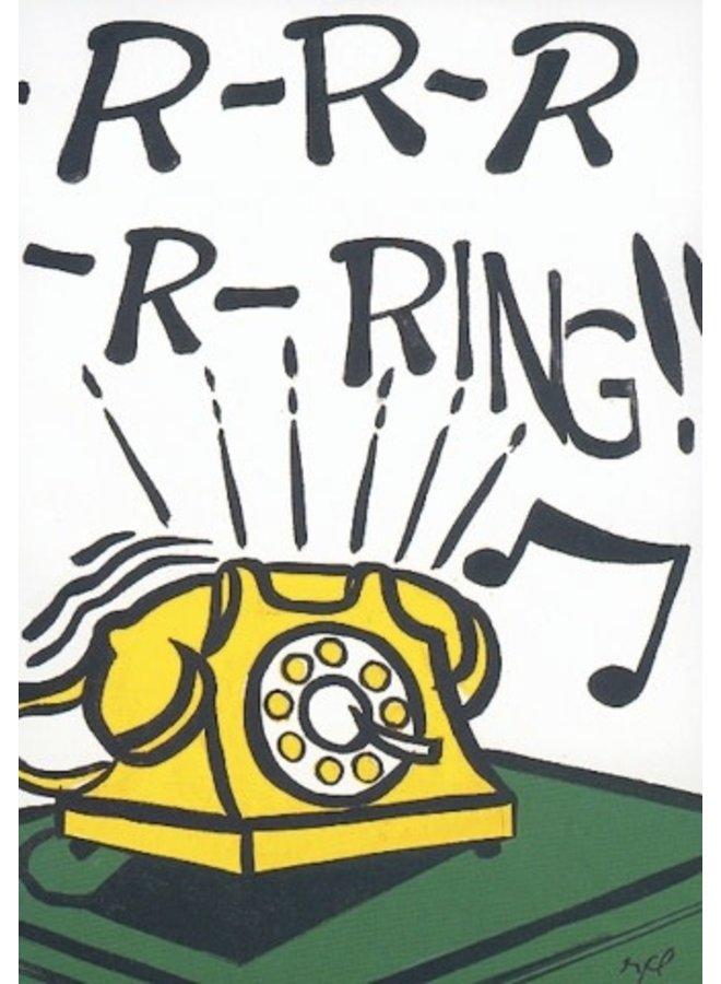 R-R-R-Ring by Lichtenstein Postcard