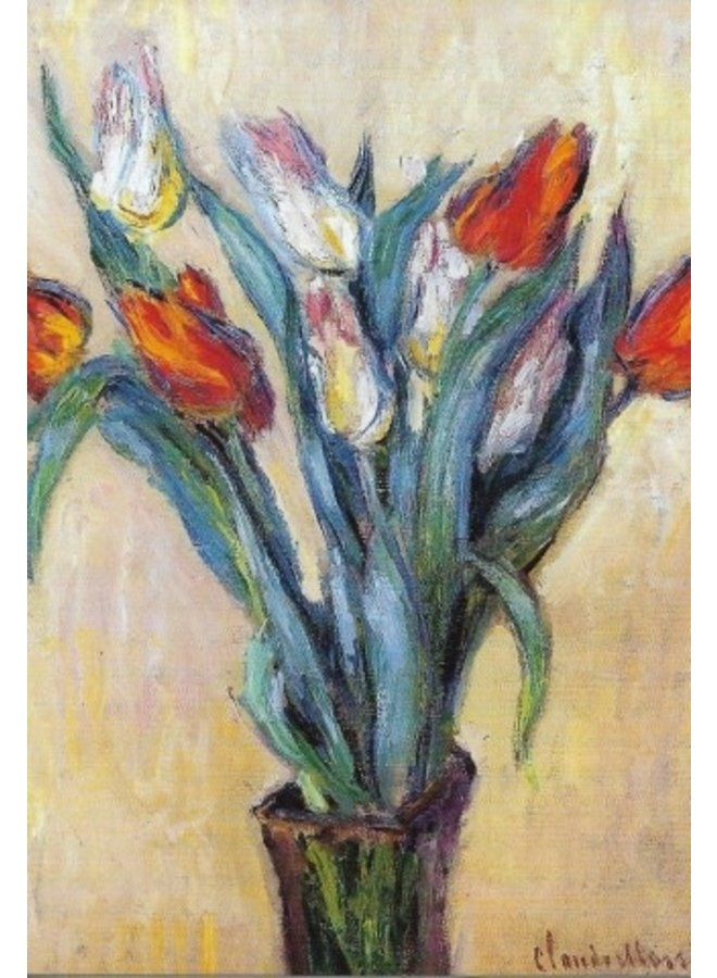 Tulips by Claude Manet  Postcard