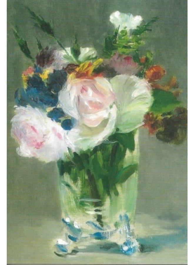 Blooms in Crystal Vase by Manet  Postcard