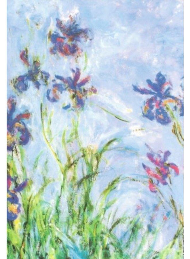 Lilac Irises (detail) by Claude Monet 140x 180mm card
