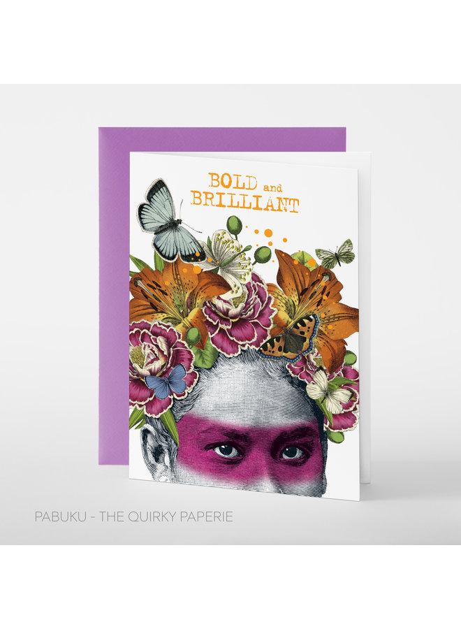 Brilliant Flower Head Card