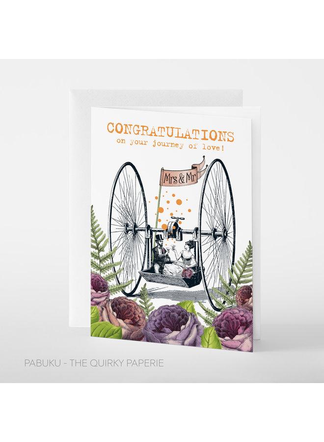 Congratulations Journey of Love Mrs. & Mr. card