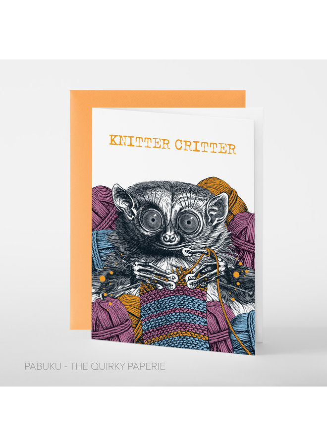Knitter Critter Card
