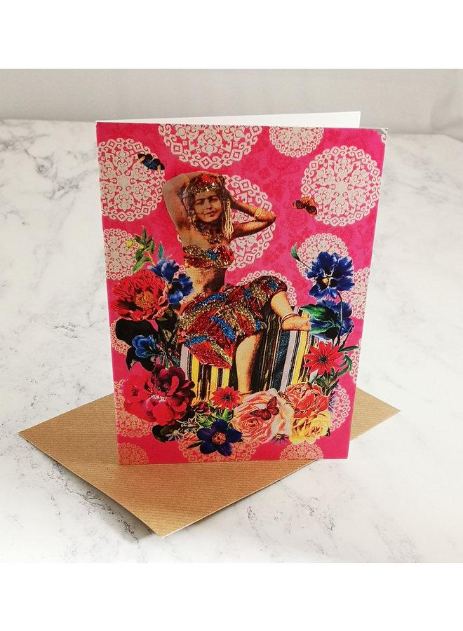 Boho Vintage Glitter Card  97