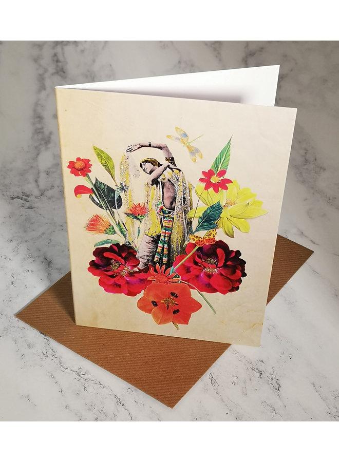 New Dancer Vintage Glitter Card  92