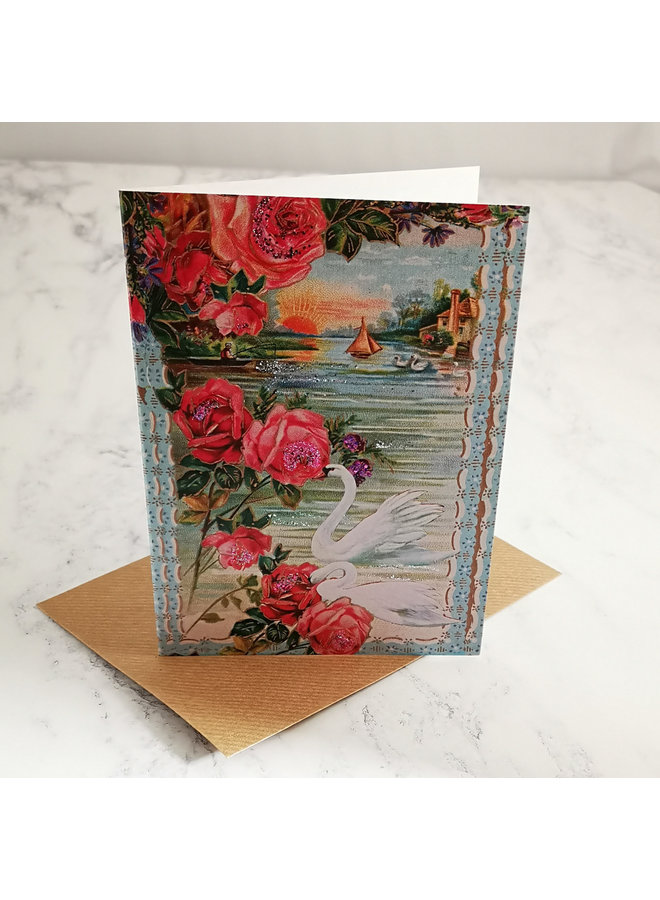 Perfect Day Vintage Glitter Card  99