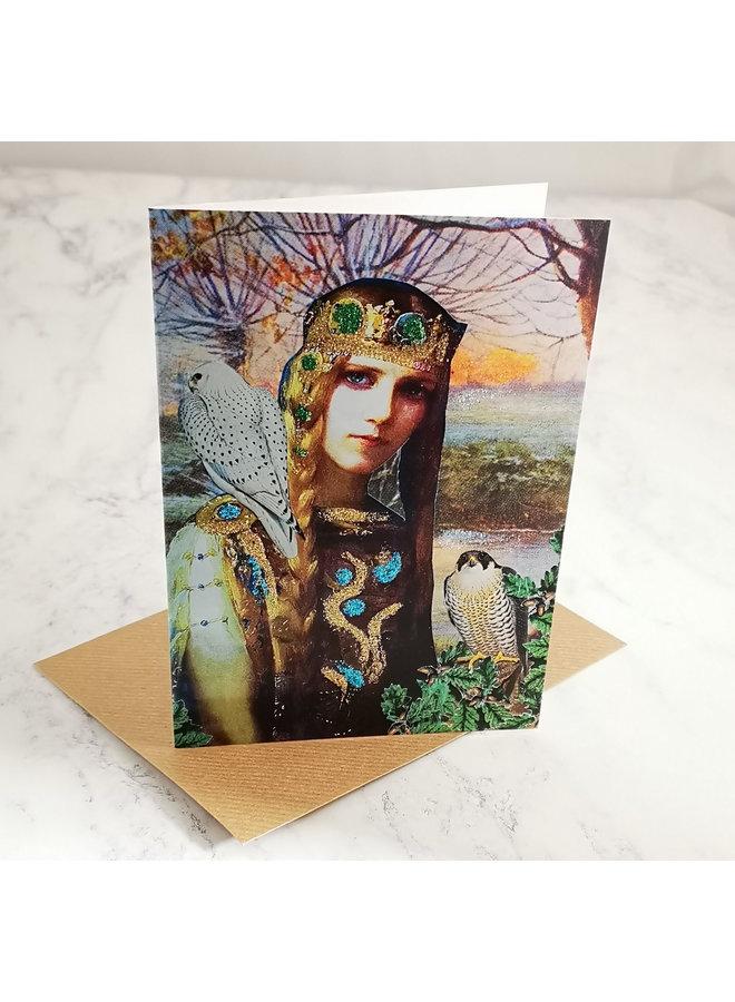 Princess Vintage Glitter Card  96